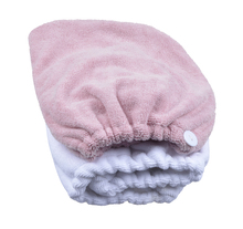 Large Size 1-pack Microfiber Hair Turban Wraps Head Hat Spa Cap Ultra Absorbent Fast Drying(China)