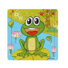 Education Toy Toys & Games Frog Wooden Kids Children Jigsaw Education And Learning Puzzles Toys, Toys for Baby AP18
