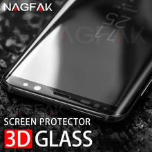 NAGFAK 3D Full Curved Tempered Glass For Samsung Galaxy S8 S8 Plus S7Edge Screen Protector For Samsung S7Edge S8 Tempered Glass(China)
