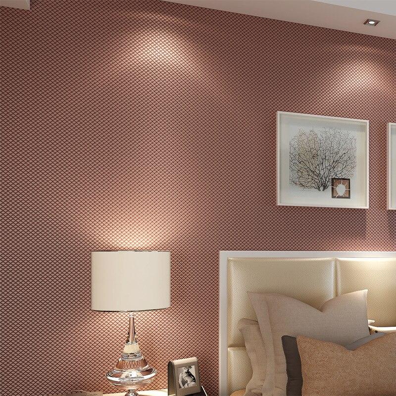 beibehang solid color fine mesh 3D flocking wallpaper roll Papel de parede 3D mural wall paper roll 3d wallpaper walls behang<br>