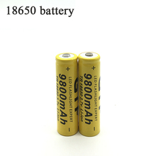 High power 9800mAh 18650 battery 2pcs 9800mAh Li-ion 3.7v 18650 battery rechargeable Battery for LED flashlight lithium battery