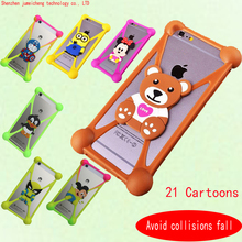 Hot sales Cute Cartoon Silicone Universal Cell Phone Holster Cases For Samsung Omnia M S7530 Case Silicon Coque Cover