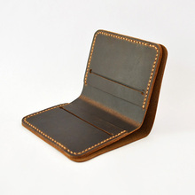 Nobrand Handmade Designer Wallet Men Genuine Leather Handmade Leather Goods Bifold Short Wallet Male Clutch Cuzdan(China)