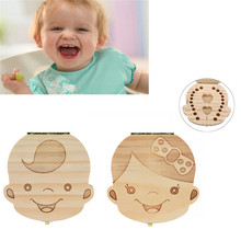 Wood Baby Girl Boy Tooth Organizer Save Deciduous Milk Teeth Storage Collecting Teeth Gift Cord Lanugo Creative For Kid Boy Girl
