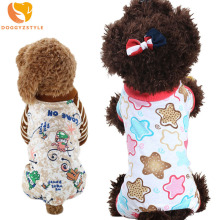 Cartoon Pet Clothes Pajamas Small Dog Jumpsuit Pet Hoodie Coat for Chihuahua Soft Warm Puppy Dog Costume DOGGYZSTYLE