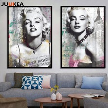 Movie Poster Sexy Marilyn Monroe Canvas Art Printing Painting Black And White Wall Pictures For Living Room Home Decoration