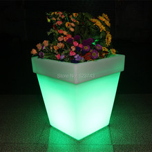 2Pcs/Lot LED Light Flowerpot Colors Changeable Luminous flash flower pot tray indoor Outdoor illuminated Y Light plantpot