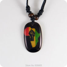 new Africa map Resin Pendant Necklace Fashion Jewelry