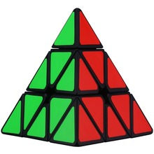3x3x3 Black Pyramid Pyraminx Magic Cube Speed Triangle Professional Cube Games Christmas Puzzle Gifts for Kids
