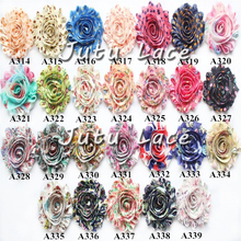 15yds/2bundles/lot chic frayed chiffon Rose trim -customize printed colors shabby flowers by the yards