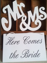 2015 wedding decoration Here Comes The Bride sign wedding Flower Girl MR/MRS wood props /Wedding Banner Rustic Ceremony Sign