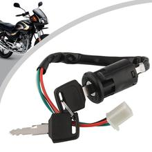 Motor Ignition Toggle Switch Lock 4 Wires 2 Keys Bike ATV Quad Go Kart Motard Motor Moped Buggy Scooters For Yamaha Kawasaki