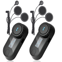 Soft Earpiece+ TCOM-SC BT Interphone Bluetooth Motorcycle Helmet Intercom Headset LCD Screen with FM Radio(China)