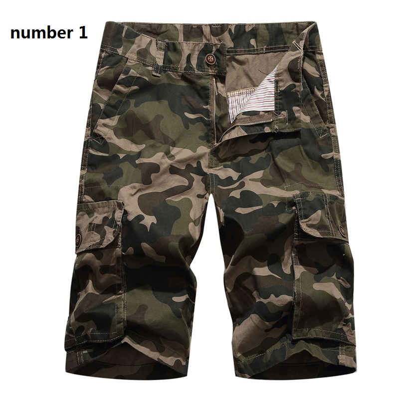 2019 Camouflage Shorts Men's Casual Sports Shorts Men Loose Work Shorts Men's Uniform Shorts Large Size