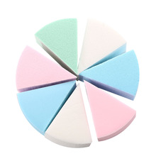 8Pc/Lot Triangle Shaped Candy Color Soft Magic Face Cleaning Pad Cosmetic Puff Cleansing Sponge Wash Face Makeup Tools(China)