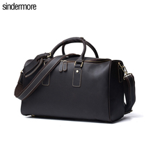 sindermore New large capacity Business Vintage Men Luggage Bags Genuine leather travel bag cow leather suitcases shoulder bag