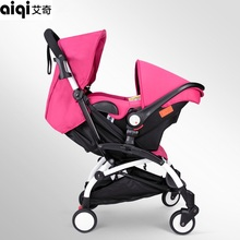 2017 Special Real Carriage Aluminum Alloy Baby Stroller Portable Foldable High Landscape With Safety Basket Pram Pushchair