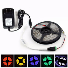 Super Bright DC12V 5M 5630 5730 60leds/m LED Strip Waterproof Flexible Light tape lamp+3 Keys Controller+3A Power Supply Adapter(China)