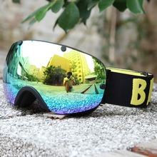 BENICE New Design Anti-fog Snow Glasses/UV- Protection Multi-Color/ double lens Snowboard Skiing Goggle with free bag SNOW-2300