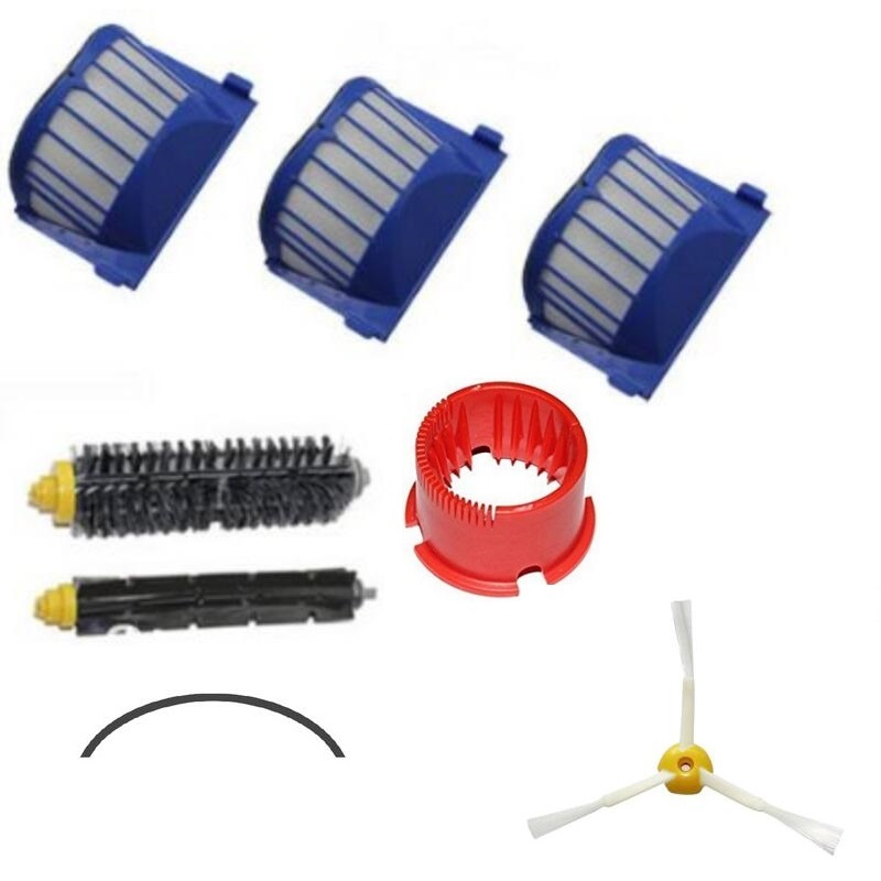 For iRobot Roomba 585 595 600 620 650 Series Vacuums Cleaner Replenishment Kit Bumper Strip Cleaning tool bristle brush flexible<br><br>Aliexpress