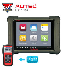 Original AUTEL MaxiSys Elite Support J2534 ECU Preprogramming Update From MS908P PRO with gift MaxiTPMS ts401 Diagnostic Tool(China)