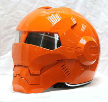 motocross helmets MASEI Orange IRONMAN Iron Man helmet half helmet open face helmet ABS casque motocross 610