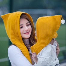 Mother And Baby Winter Scarf 2017 Wool Knit Kids Cashmere Head Scarf Womens Shawls And Wraps Boys Girls Pom Pom Scarves Hat Set(China)