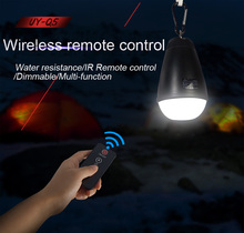 Remote Control Charging Lamp LED Waterproof Outdoor Camping Tents Lamp Dimming Power Failure Emergency Lights(China)