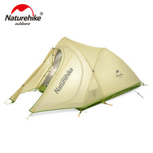Naturehike Folding 20D Fabric Ultralight Double Layers 1-2 Person Outdoor Double Layer Tent Camping Windproof Waterproof Tent(China)