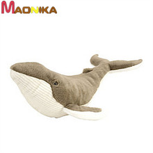 38CM 2016 One Piece Soft Whale PP Cotton Plush Toy Creative Dolls Birthday Gifts Cute Whales Kids Stuffed Sleeping Bedroom Toys