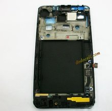 5PCS/LOT, For Samsung Galaxy SII S2 i9100 Housing Front Cover Bezel with home button flex cable, Free shipping.