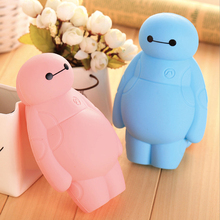 Silicone Big Hero 6 Baymax Kawaii Pencil Cases Multi-functional Stationery Pen Bags Storage Pencil Box School Supplies(China)