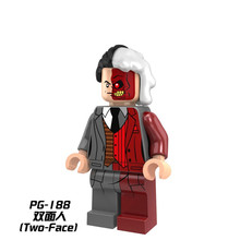 Single Sale Building Blocks Two-Face Robin Rome Batman DC PG188 Figures Super Heroes Star Wars Set Model Action Bricks DIY Toys - cheerful toy Store store