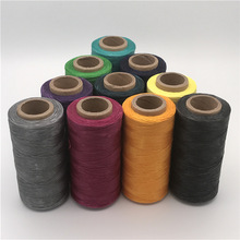 Colourful Durable 260 Meters 1mm 150D Leather Waxed Thread Cord for DIY Handicraft Tool Hand Stitching Environmental Thread Gift