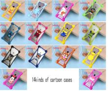 Cute Cartoon Silicone Universal Cell Phone  Cases  For fly iq4418 iq400w iq436i iq4400 FS501 FS451 FS401 FS452 FS551