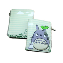 10 card holder cartoon zipper wallet pu leather wallets one piece/ totoro/Naruto /dry matter lovely student wallets zip purse