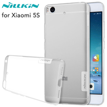 Nillkin Cover for Xiaomi Mi5S Case Transparent Clear Soft TPU Silicone + Dust Plug Cover for Xiaomi Mi 5S Case Protective Shield