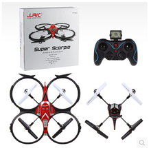 Free shipping!! 2.4G UFO 4CH rc quadcopter With Camera 6 Axis Large radio remote control helicopter U818A-1(China)