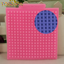 Food Grade Silicone Cake Lace Mold Waffle Mat Sugarcraft Fondant Cake Decorating Tools Fondant Embossed Border Mat(China)