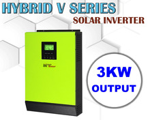 Hybrid Solar inverter 3000w 48v 230vac 80A mppt solar charger + 60A battery charger grid tied inverter with battery bank up