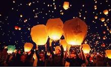 SKY Balloon Kongming wishing Lanterns,Flying Light Halloween Lights,Chinese sky Lantern Wholesale 1000pcs/lot(China)