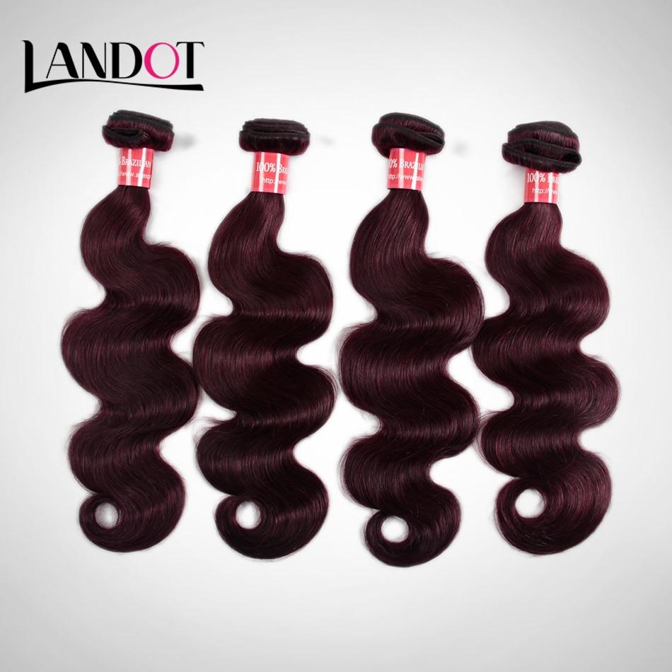 Burgundy Brazilian Body Wave Virgin Hair Weave Bundles 4Pcs Lot Grade 7A Wine Red 99J Cheap Brazilian Remy Human Hair Extensions<br><br>Aliexpress