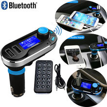 Hot voiture FM Transmitter Wireless Bluetooth Music Hands-free Calling Wireless MP3 Player Car Kit USB Charger SD LCD 3 Color(China)