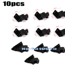 10PCS Hunting Accessories 4 Slot 45 Degree Offset Side 20mm Picatinny Weaver Rail Mount For Optical Lron Sight Laser Flashlight