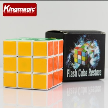 Improved Instant Restore Cube Flash Cube Restore High Quality Plastic Cube Magic Cube Magic Toys Magic Props Tricks(China)