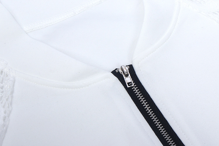 Lace Autumn Women Jacket White-4