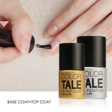 UV Top Coat + UV Base Coat Foundation for UV Gel Polish Top it off 30 day long lasting FOCALLURE Color Tale 12ml(China)