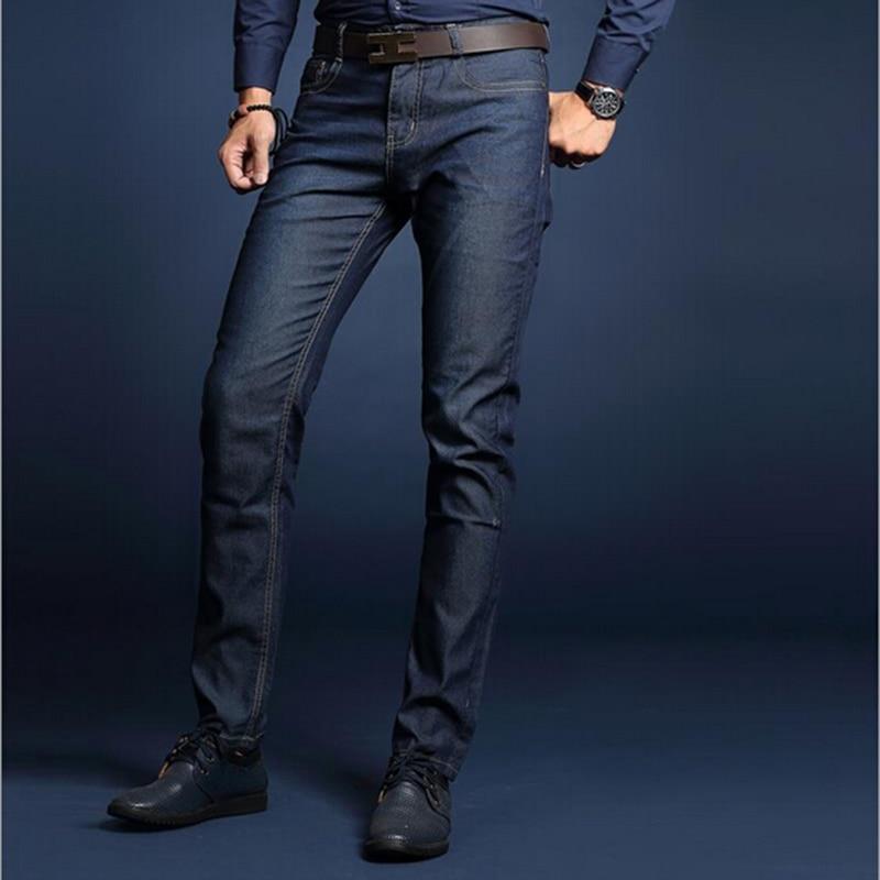 Lightweight business straight mens jeans summer business men jeans good quality solid denim jeans men Одежда и ак�е��уары<br><br><br>Aliexpress