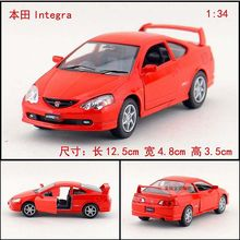 1:34 12.5cm Kinsmart Honda IntegraType-R car alloy pull back vehicle model boy birthday toy