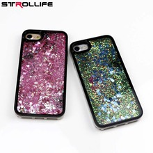 STROLLIFE Side Drilling Case Liquid Love Heart Stars Dynamic Liquid Quicksand Soft TPU+Hard PC Phone Cases for iPhone 6 6s 7Plus(China)